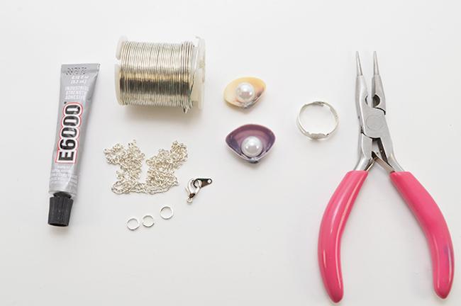 collar perla materiales