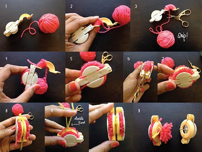 pompones como hacer