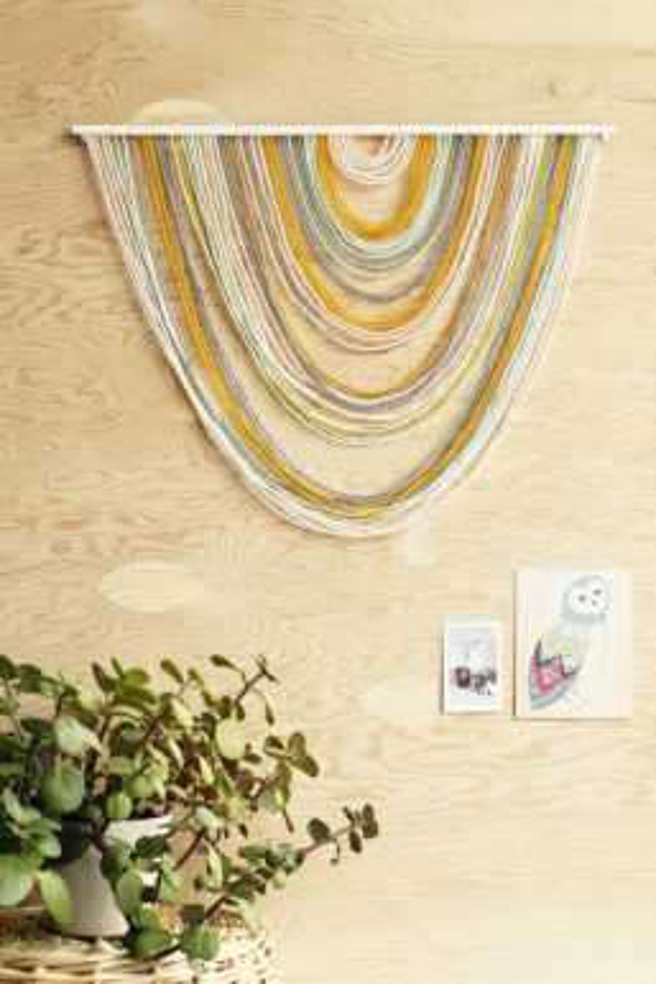 C mo hacer un mural de lana para decorar tu pared blog for Como decorar un mural