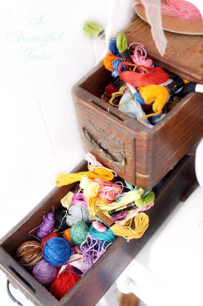 hilos de colores para manualidades