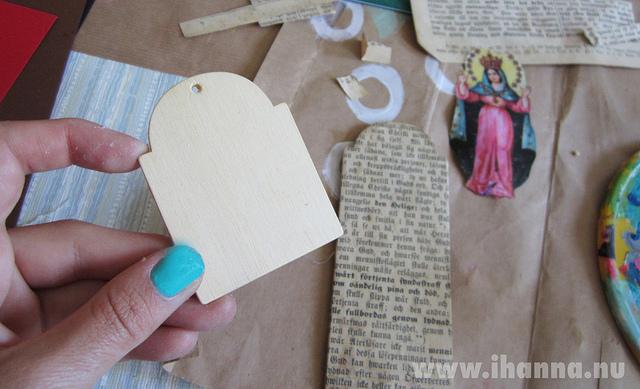 materiales adorno decoupage navidad