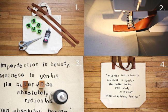 personalizar bolso materiales