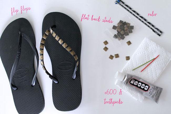 sandalias tachas materiales