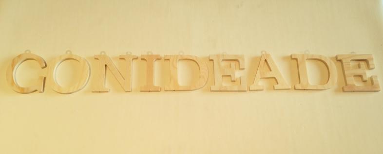 Letras de madera para manualidades y decoracion