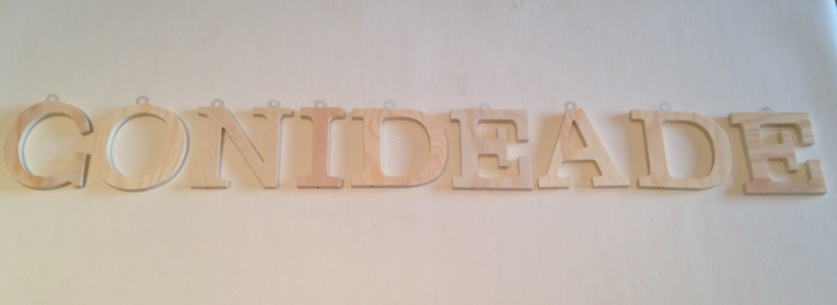 Letras de madera para manualidades y tu decoracion
