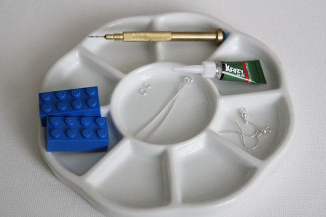 pendientes lego materiales