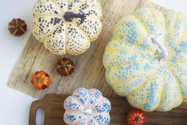Calabazas pintadas para decorar en Halloween