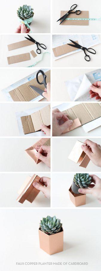 macetas cartón cómo hacer