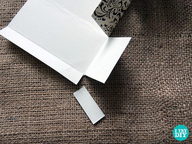 cajita cartón paso 1