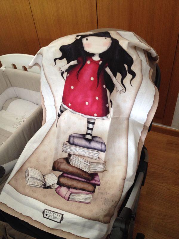 Manta con tela Gorjuss para carrito de bebe
