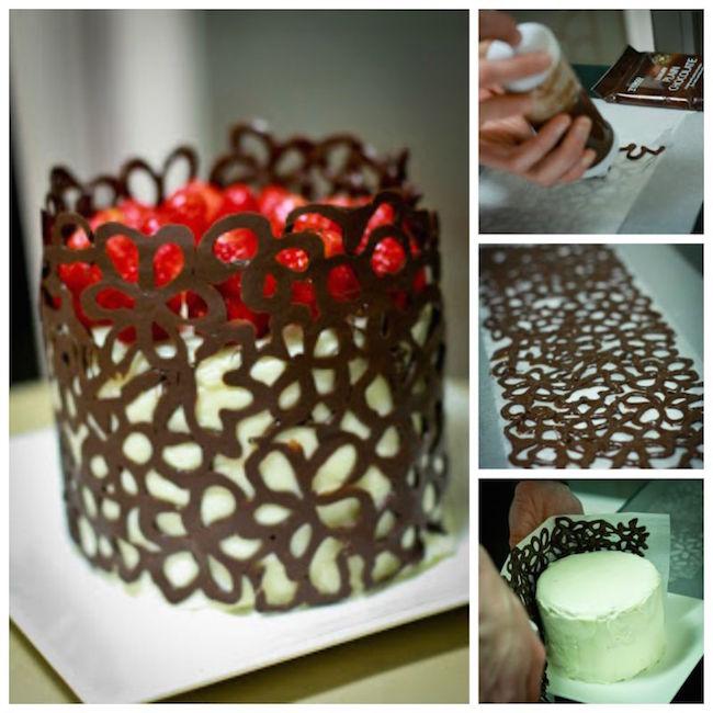 C mo hacer un pastel decorado f cil para navidades blog material para manualidades con idea - Decoracion con chocolate ...
