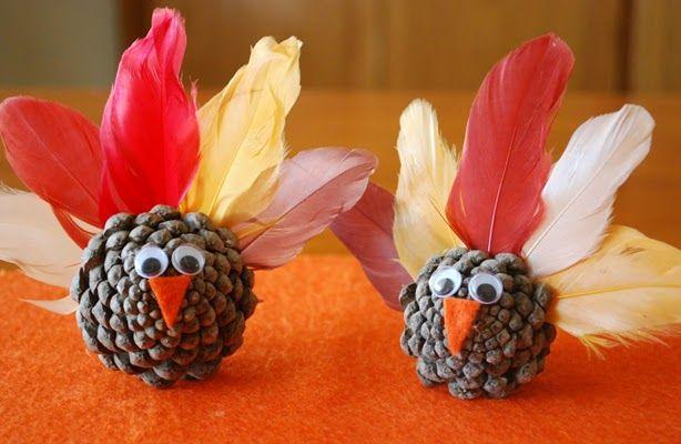 pavo hecho con piñas