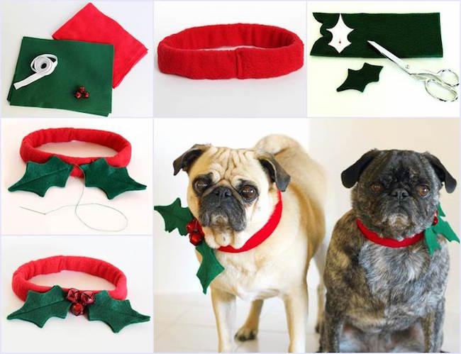 Collar navideño para perro