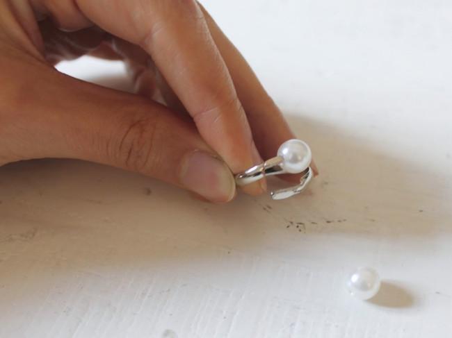 anillo perlas pasos