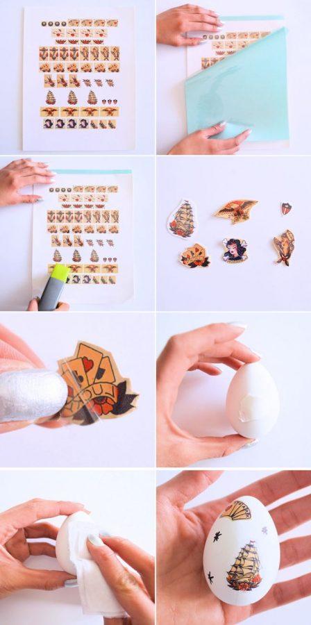Huevos Pascua pasos