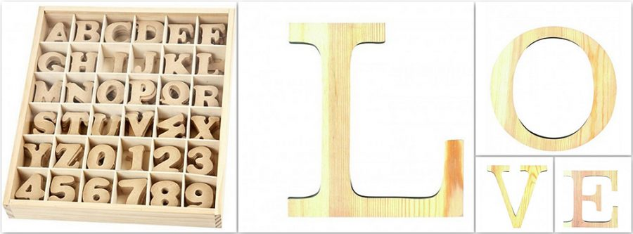 Letras madera para manualidades y decoración