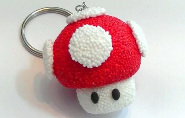 llavero-foam-Clay-seta-Super-Mario