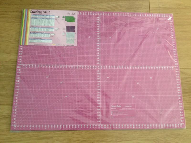 Base de corte doble cara rosa 60x45 cm