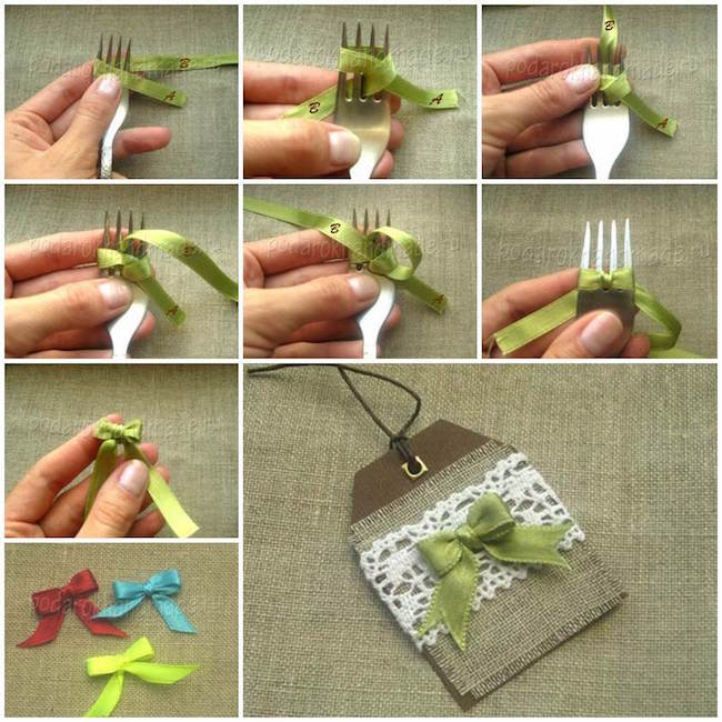 Lazos cinta tenedor