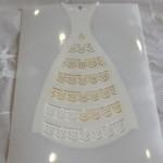 decorando silueta de vestido con sctencil