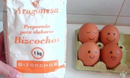 Ingredientes Bizcocho Chocolate