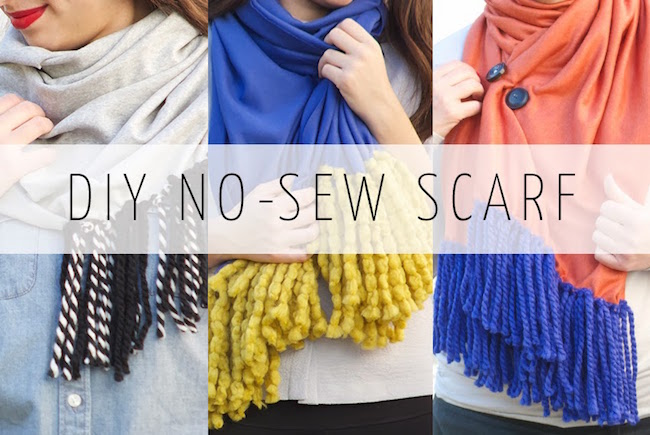 bufanda sin coser flecos