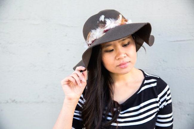 sombrero plumas