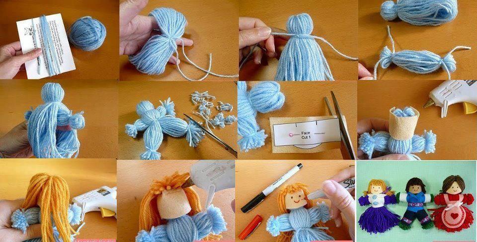 dollys de lana y fieltro