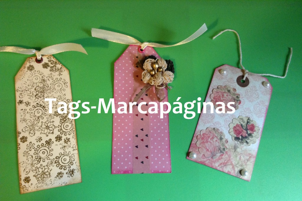 3 ideas para decorar tags o marcapaginas scrap