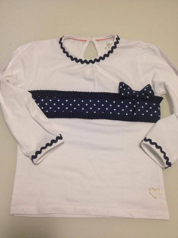 camiseta personalizada con cintas y picunelas- conideade