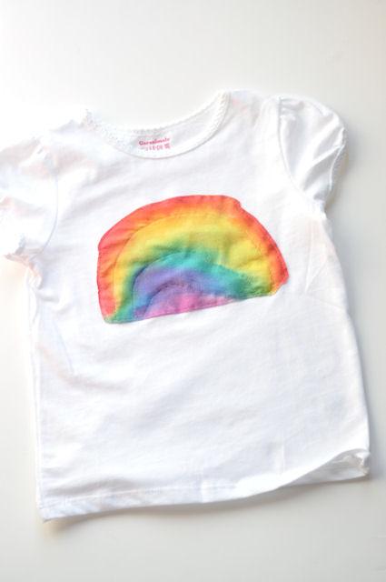 camiseta personalizada con pintura de tela