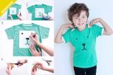 camiseta personalizada con rotuladores de tela