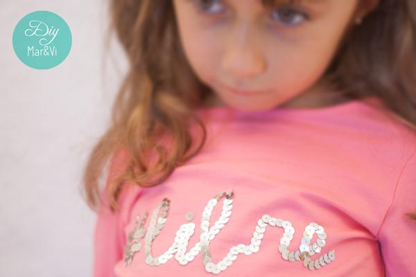 camiseta personalizada con lentejuelas