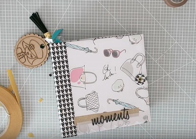 Álbum scrapbook con motivos fashion