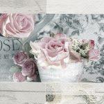 Servilleta para decoupage con motivos de rosas