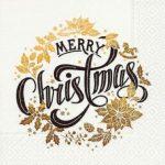 Servilleta para decoupage navidad merry christmas