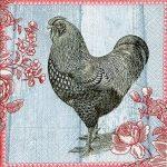 Servilleta para decoupage sobre tela motivo de gallina