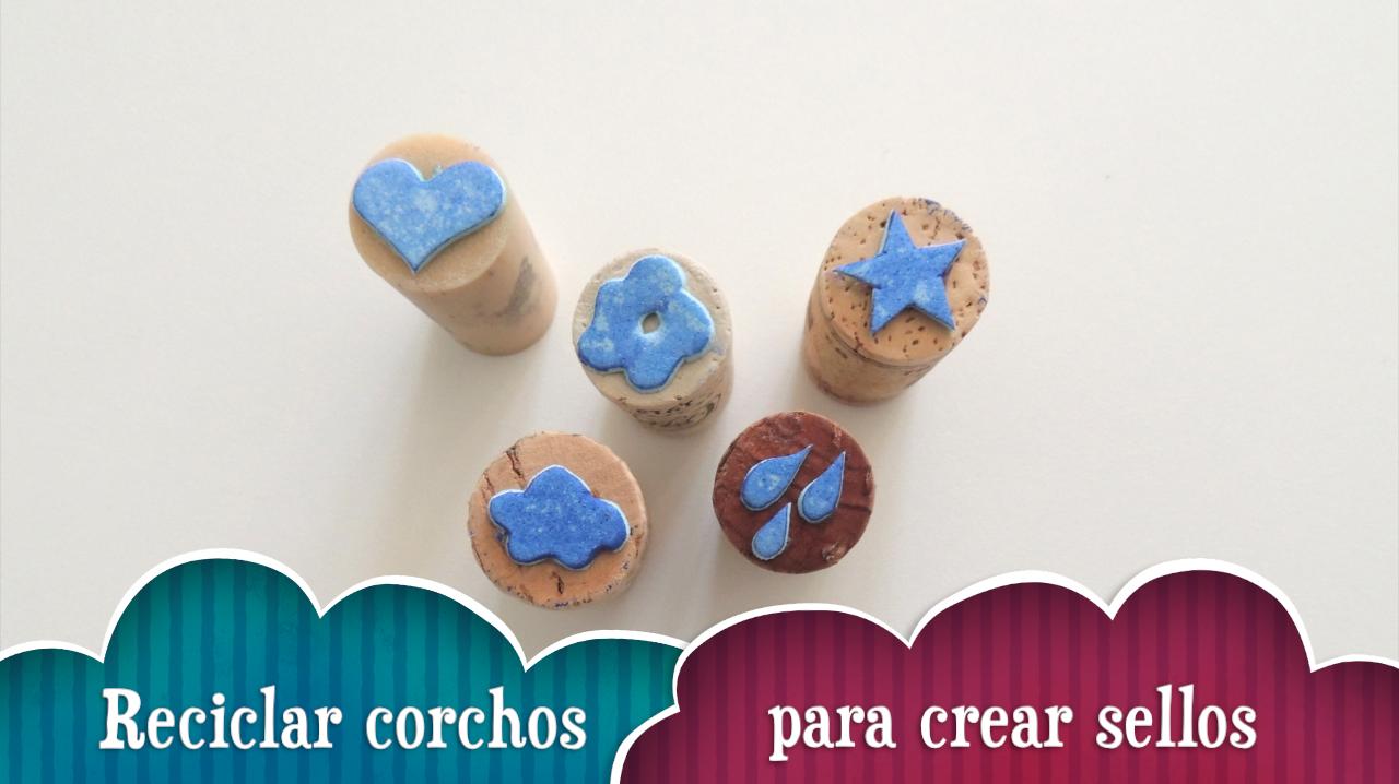 Reciclar corchos para crear sellos