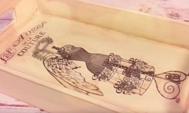 Decorar Una Bandeja De Madera Vintage Conideade Manualidades