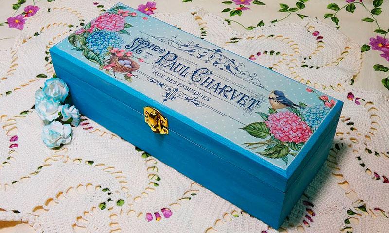C mo decorar cajas de madera conideade manualidades - Como decorar una caja de madera ...