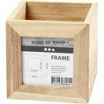 Caja de madera portal ápices con marco para fotos