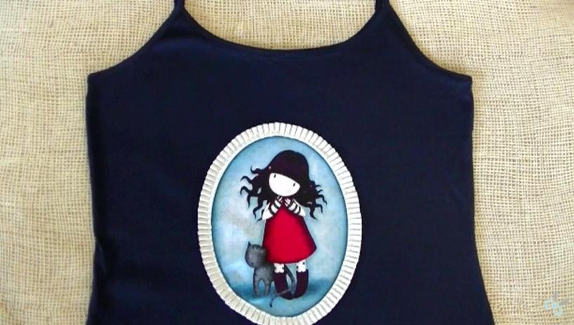 Camiseta personalizada con telas gorjuss