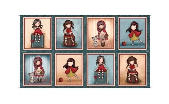 Panel de tela Gorjuss My Story con 8 muñecas