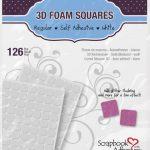 126 cuadrados de foam adhesivo 3D