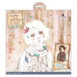 """Pack 32 hojas scrap 6x6""""colour me in willow"""