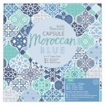 Pack 32 hojas scrap Moroccan Blue 6x6