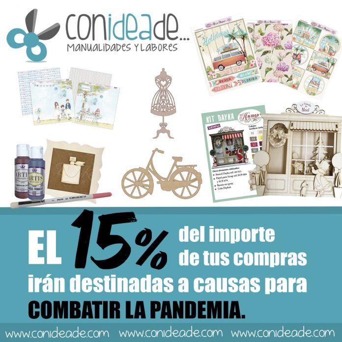 Donamos el 15% del importe de vuestras compras en nuestra tienda de manualidades para luchas contra la pandemia