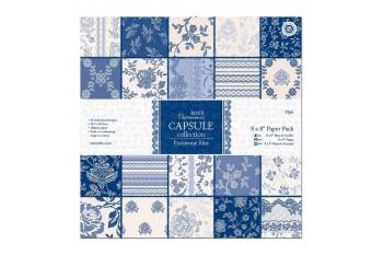 Parisienne Blue, colección scrap de Papermanía en tonos azules y sepia