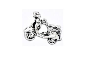 Charms de metal en color plata - Bisutería, scrap y manualidades